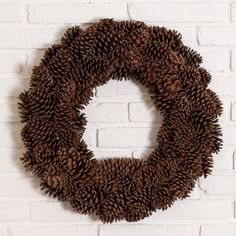 Pinecone Wreath | Christmas Decor | Magnolia Christmas | Magnolia Market | Chip & Joanna Gaines | Waco, TX |