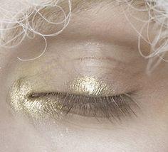 John Galliano Spring/Summer 2009 Makeup. Gold.