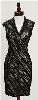 Tracy Reese  Cable Lace Surplice Dress