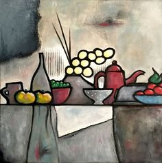 Discover great art by contemporary artist René Barranco. Browse artworks, buy original art or high end prints. Vase Rouge, Art Gallery, Cafetiere, Art Original, Collage, Oeuvre D'art, Contemporary Artists, Les Oeuvres, Still Life