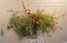 11-25-16 Time to start decking your halls for the holidays. Locally grown Locust Creek Conifer cuttings and Holly berries.  #locallygrown @locustcreekflowerfarm #grownnotflown #winterberry #conifercuts #locustcreekflowerfarm #illinoisgrown