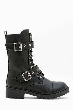 Simple Black Combat Boots