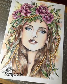 Finished this beauty by using coloured pencils and chalk pastels Chalk Drawings, Pencil Art Drawings, Colorful Drawings, Colorful Pictures, Adult Coloring Pages, Coloring Books, Illustration Art Drawing, Spirited Art, Chalk Pastels