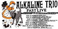 """NEWS: The punk rock band, Alkaline Trio, have announced a spring tour in the United States, called the """"Past Live Tour."""" They will be playing each of their eight albums live, over the span of four nights in each city. You can check out the dates and details at http://digtb.us/1xmDmoe"""