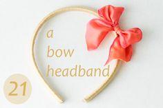 flax & twine | craft + diy: Day 21: A Bow Headband - a diy hair accessory