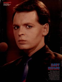 "Gary Numan on a single-page poster in the issue of 8 November He had hits at the time as the Tubeway Army with ""Are 'Friends' Electric? Gary Numan, Dye My Hair, Music Icon, Pop Rocks, Rock Style, Rock Music, Punk, Posters, Star"