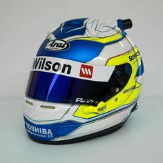 James Moffat - 2016 Arai GP6 GT-N.  Switched up the colours this year to go with Moff's switch to Garry Rogers Motorsport! Moff wanted this years lid to look clean and crisp so we kept the the base of all of his previous helmets with a few subtle changes the most noticeable change being the switch to blue chrome.  @j_moffat @v8supercars @grmotorsport @volvopolestar @volvocarsaus #rstardesign #instahelmet #araihelmet #v8sc #customhelmetpaint #helmetporn by rstar_design