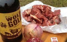 Ingredients for beef and ale stew, a great camping dish :)