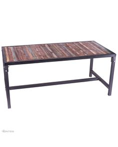 The Dunstan industrial dining table is imported directly from India. Sturdy 45mm square box section frame with reclaimed timber table top. Suitable for full commercial use. Some basic assembly required