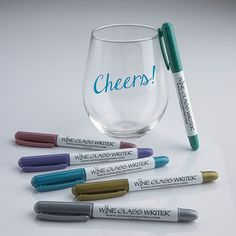 Wine Glass Writer Metallic Pens (6 Pack) at Wine Enthusiast - $14.99