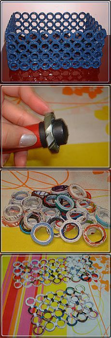 You do not know what to do with old magazines?  Braid baskets!  |  Housewives