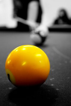Yellow 1 ball, cool photography.