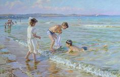 Alexander Averin - Russian artist - By The Sea War Photography, Types Of Photography, Wildlife Photography, Street Photography, Landscape Photography, Art Plage, Les Cascades, Russian Art, Beach Scenes