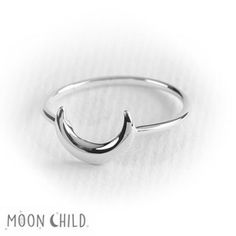 Image of Luna stacking ring (Sterling silver)