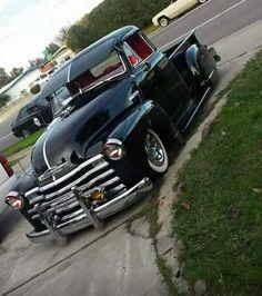 1954 Chevy Truck, Classic Chevy Trucks, Chevrolet Trucks, Classic Cars, Old Pickup Trucks, Gm Trucks, Cool Trucks, Chevy 3100, Chevy Pickups