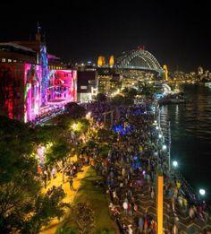 MCA and Sydney Harbour Bridge at Vivid Fetival, image courtesy Vivid