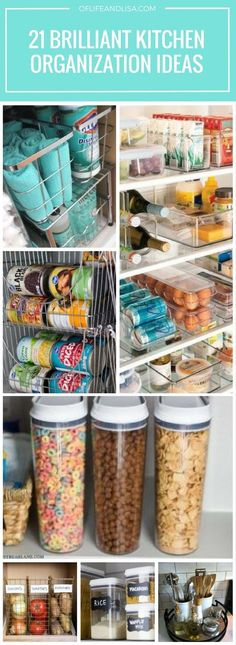 Easy ways to organize and tidy your kitchen. Repin for later!