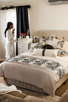 Mr Price Home Bedroom View our range at www mrpricehome Diy Home Interior, Interior Decorating, Decorating Bedrooms, Bedroom Colors, Home Decor Bedroom, Bedroom Ideas, Bedroom Designs, Master Bedroom, Scandinavian Style Bedroom