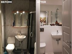 Bathroom | Before & After Malmhattan 4 of 8 @homedoubler  #bathroom #bathroominspo   #bathroominspiration #beforeandafter #malmhattan #malmö #malmo #föreochefter #badrum
