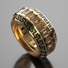 Versace mens wedding ring, wedding sets women rings, custom mens rings silver, unique gold wedding ring for gift anniversary # Wedding Rings classic V Circle Diamond Rings, Unique Diamond Rings, Unique Rings, Diamond Choker, Black Wedding Rings, Wedding Rings For Women, Wedding Men, Rings For Men, Mens Pinky Ring