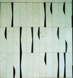 Ronaldo Fraga e Athos Bulcão - Handmade tiles can be colour coordinated and… Floor Patterns, Textile Patterns, Oscar Niemeyer, Tile Art, Mosaic Tiles, Geometric Shapes, Geometric Wall, Surface Design, Wall Design