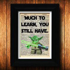 Yoda Quote Star Wars Lego Birthday yoda print by TellTalePrints, $10.00
