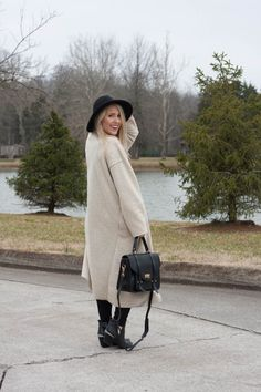 Oversized Camel Sweater | Neutral Winter Outfit Idea | Pearls & Twirls Life & Style Blog