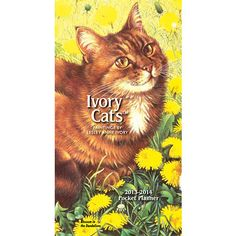 Ivory Cats Pocket Planner: Enjoy the paintings of your favorite felines in this Ivory Cats Pocket Planner. No bigger than a checkbook, these cats can go with you everywhere and keep your daily schedule right at the palm of your hands.  http://www.calendars.com/Faces/Ivory-Cats-2013-Pocket-Planner/prod201300005161/?categoryId=cat00182=cat00182#