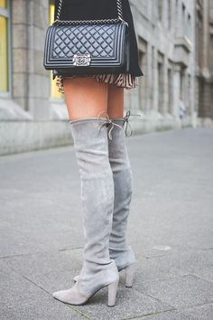 Be inspired by the people in the street! www.streetstylecity.blogspot.com OUTFIT: HOW TO WEAR – OVERKNEE STIEFEL