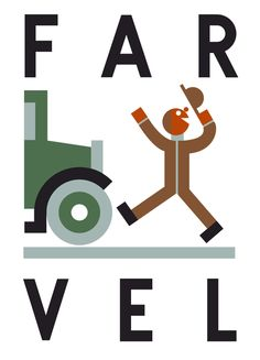 Far Vel. [word play on good bye] Danish poster. Graphic Illustration, Graphic Art, Graphic Design, Water Branding, Cool Posters, Art Posters, Typography Letters, Lettering, Mid Century Art