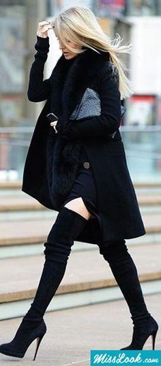 knee high winter boots