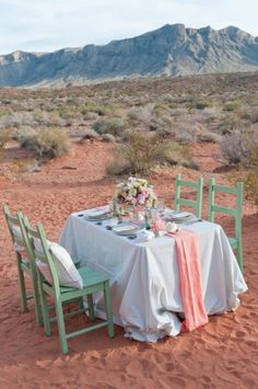 Green, pink and white #wedding theme