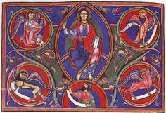 Frontispiece of the Bury Bible, Romanesque, English, 1135 ce