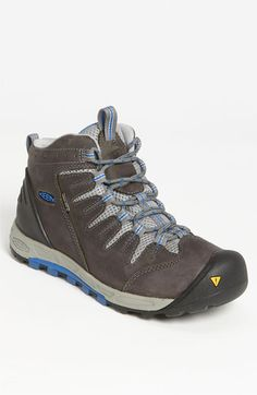 Keen 'Bryce' Hiking Boot -  A breathable, waterproof membrane provides exceptional protection in a mid-height hiking boot crafted from tough nubuck leather. Color(s): gargoyle/ strong blue.