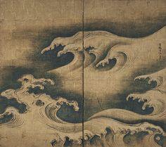 Ogata Korin: Rough Waves (26.117)   Heilbrunn Timeline of Art History   The Metropolitan Museum of Art