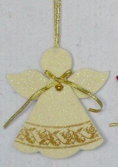 1 million+ Stunning Free Images to Use Anywhere Paper Christmas Decorations, Felt Decorations, Christmas Ornaments To Make, Felt Ornaments, Christmas Angels, Homemade Christmas, Christmas Crafts, Angel Crafts, Felt Crafts
