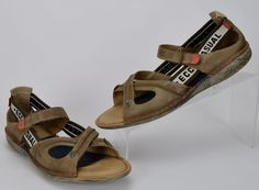 Ecco 41 Casual US Women's Size 10-10.5 Brown Leather Sports Sandals #ECCO #SportSandals #Casual