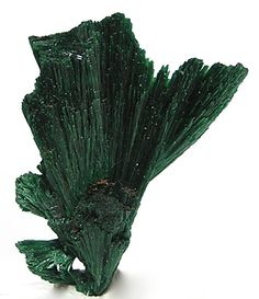 Green Malachite Fibrous Crystal Plumes Natural by FenderMinerals