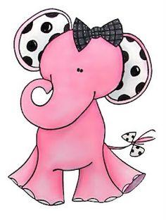 Ella the Pink Elephant clip art
