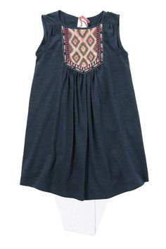 Buy Navy Embellished Tunic and Legging Set (3-16yrs) from the Next UK online shop