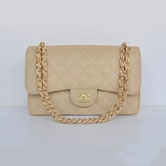 Chanel Large Quilted Flap Bag in Nude with Gold