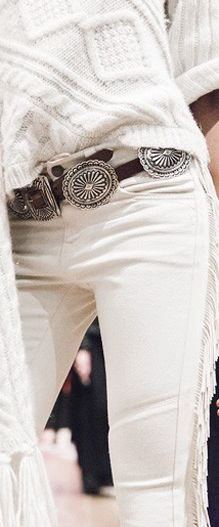 Polo Ralph Lauren Leather-Fringed Bootcut Jean