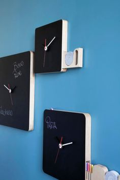 Blackboard clocks. These are really cool!