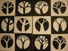 WHAT'S HAPPENING IN THE ART ROOM??: 5th Grade Positve/Negative Trees