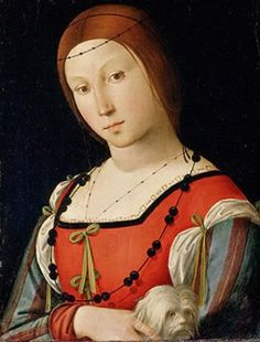 Woman with dog, ca. 1505    by Lorenzo Costa, 1460-1535