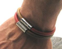 EXPRESS SHIPPING Men's Bracelet. Men's Leather by eliziatelye