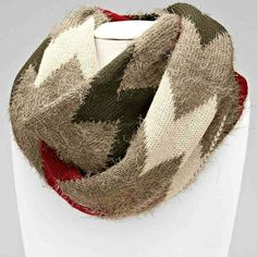 Chevron Snug Infinity Scarf Winter Boutique Accessories Scarves & Wraps