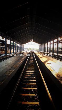 Stasiun Solo Balapan, Indonesia #station City Photography, Moana, Railroad Tracks, Kai, Iphone Wallpaper, Sidewalk, Corner, Architecture, Disney