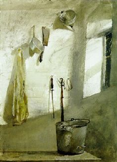 Andrew Wyeth - 'The Milk Room' WC