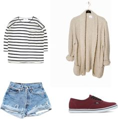Because the only size a cardigan should be is oversized. | 11 Easy And Comfortable Back To School Outfits